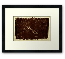 Charcoal Relief. Framed Print