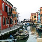 6AM Sunday Morning - The Island of Burano,  Italy by T.J. Martin