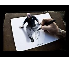 Im not a bad guy, im just drawn that way Photographic Print
