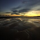 Freshwater Sunset, Pembroke Coast. by Miffy