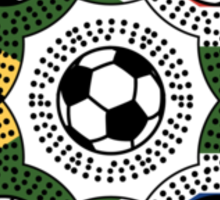 South African Football Flower Sticker