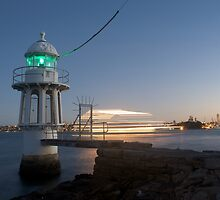 Cremorne Point by Night by Norman Herfurth