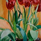 Red Tulips by Christine Hirtescu