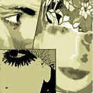 On head an abat jour style nouveau..collage unicolor by anaisanais