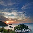 Sunset over island Mljet by Lidija Lolic