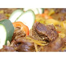 Food: Delicious Beef with Vegetables Photographic Print