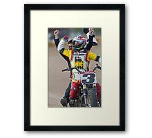 Joe Kopp Wins the Yavapai Mile for Ducati! Framed Print
