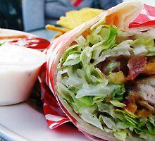 Chicken Veggie Wrap by torigoo