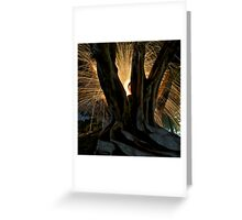 Fire Angel Xmas Tree II Greeting Card