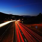 HWY 37 Light Trails at Sunset by ShootinMickey