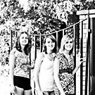 three girls cemetary gate by cammdesi