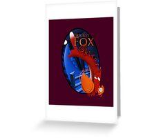 Wine label design for Tricksy Fox Shiraz Greeting Card
