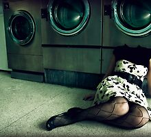 quirky laundromat lady by nicotan