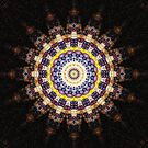 Indian Corn Kaleidoscope Art 4 by Christopher Johnson