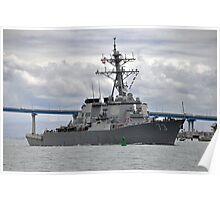 USS Decatur DDG 73 Destroyer Poster