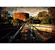Abandoned Water Treament Building Photographic Print