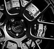 ADV. 1 Black White Rim Wheel Dark by LongbowX