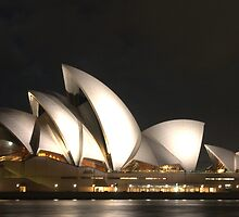 The Sydney Opera House at night by Bianca  Cardenas