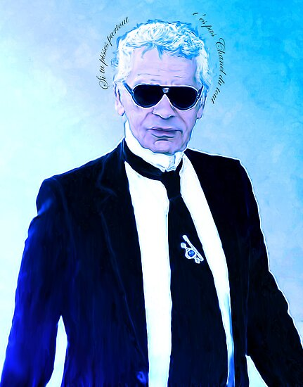 Karl Lagerfeld Portrait by kennethbicocchi