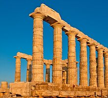 Temple of Poseidon at sunset by Konstantinos Arvanitopoulos