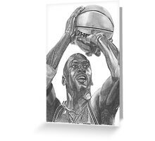Illustration of an athlete in action. Greeting Card