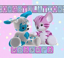 Congratulations Grandpa Baby Twins by Moonlake