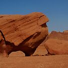petrified monster in Wadi Rum by yvesrossetti