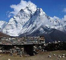 Home at Dingboche - Nepal by Derek McMorrine