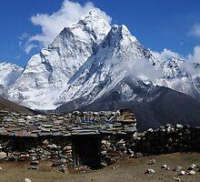 Home at Dingboche - Nepal by Derek McMorrine