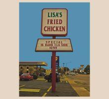 Lisa's Fried Chicken T-Shirt by Robert Howington