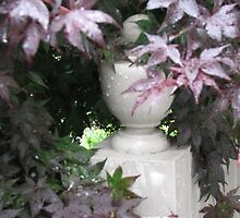 Japanese Maple - Around Fence Post by JeffeeArt4u