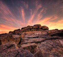 Rocky Sunset by Bob Larson