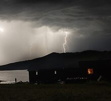 Thunder-storm on Baikal by Alosh
