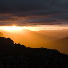 Sunset from Cathedral Mountain by tasadam