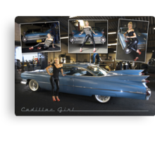 cadillac girl Canvas Print