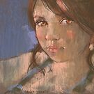 pastel study of Stacey by djones
