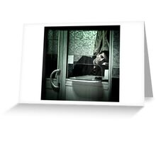 Caught between acts... Greeting Card