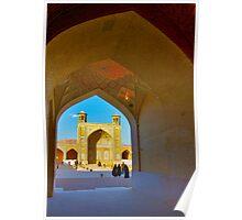 Through The Arches - Vakil Mosque - Shiraz - Iran Poster