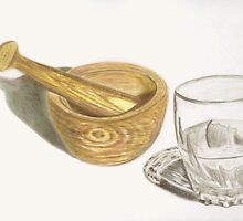 Mortar, Pestle, Glass by Denise Martin