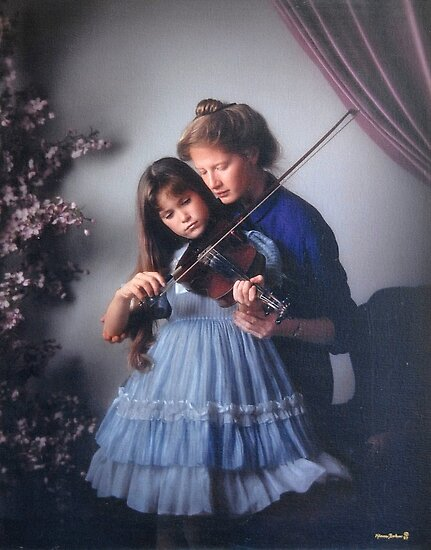 music lesson by Klaus Bohn