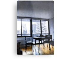 Apartment Living... Room with a View Metal Print