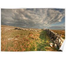 Stone Walls in The Burren Poster