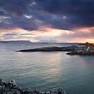 Rum and Eigg at Sunset from Arisaig II by Christopher Thomson