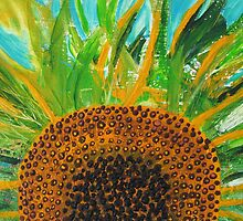 Reborn- Sunflower - Acrylic by emelisa