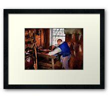 Woodworker - The master carpenter Framed Print