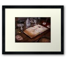 Ophthalmologist - The poker game Framed Print