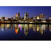 Evening Walk - Cincinnati Night Scene Photographic Print