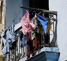 Washday blues, Old Havana, Cuba by buttonpresser