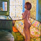 'Model in  Backlight' (Interpretation -'Bonnard') by allwyn