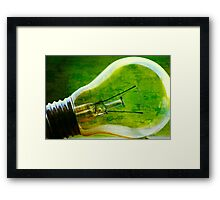 Think Green! Framed Print